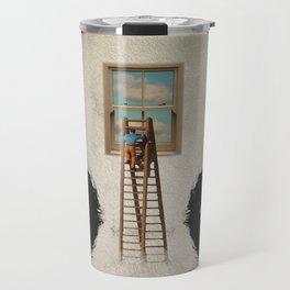 Panda window cleaner 03 Travel Mug