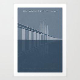 The Bridge tribute poster Art Print