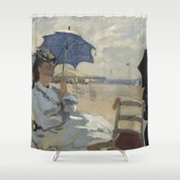 monet Shower Curtains featuring Monet by Palazzo Art Gallery