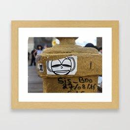 Smug on Brooklyn Bridge Framed Art Print