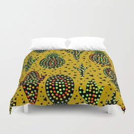 Cacti and pineapples Duvet Cover