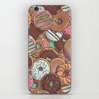 donuts iPhone & iPod Skins featuring Donuts by Mario Zucca