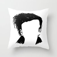 matty healy Throw Pillows featuring Matt Healy Silhuette Drawing by summergirl