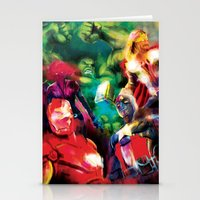 avenger Stationery Cards featuring Color Avenger! by Jesus De La Mora