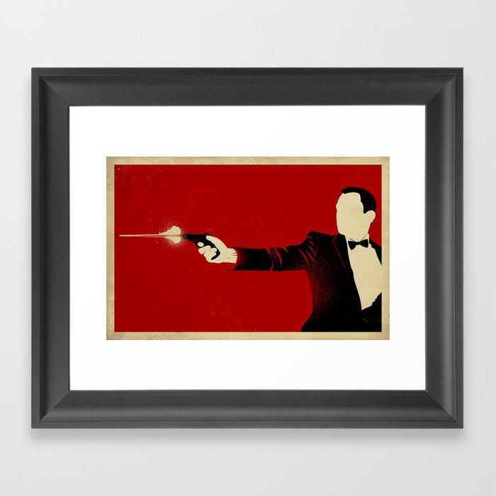 The Double Agent Framed Art Print