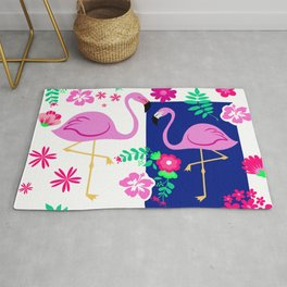 flamingo pattern Rug