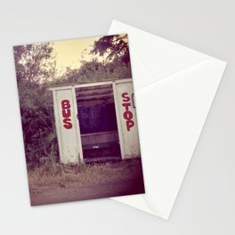 Tomales Bay bus stop Stationery Cards