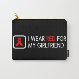 Red Ribbon: Red for my Girlfriend Carry-All Pouch