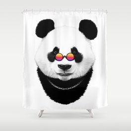 Panda hippie Shower Curtain