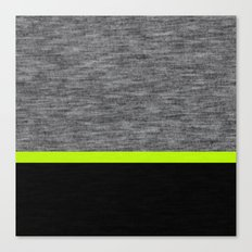 Athletic Grey and Lime Canvas Print