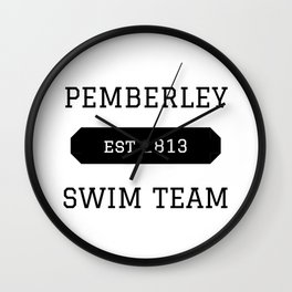 Pemberley Swim Wall Clock