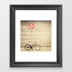 Parking lot Framed Art Print