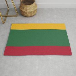 Lithuania flag emblem Rug