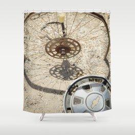 wheel & hub Shower Curtain