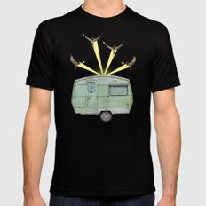 The best way to travel Black Mens Fitted Tee MEDIUM