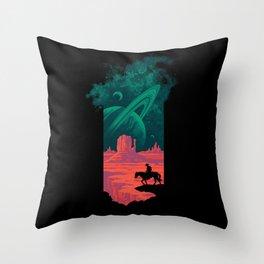 Final Frontiersman Throw Pillow
