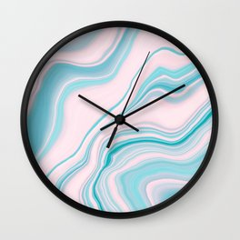 Liquid Pastel Agate Dream #1 #pastel #decor #art #society6 Wall Clock