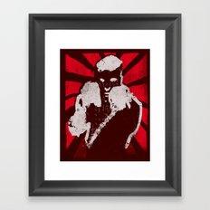 posing boxer Framed Art Print