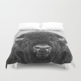 Buffalo Print, Bison Wall Art, Photography Print Duvet Cover