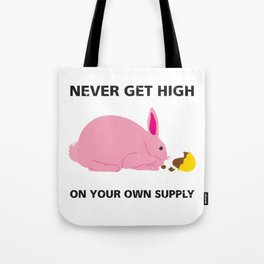 Greedy Easter Bunny Tote Bag