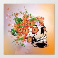 sugar skull Canvas Prints featuring Sugar skull by nicky2342