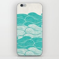 jazzberry iPhone & iPod Skins featuring The Calm and Stormy Seas by Pom Graphic Design