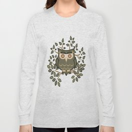 The Wise Old Owl .. fantasy bird Long Sleeve T-shirt