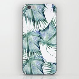 Floating Palm Leaves 2 iPhone Skin