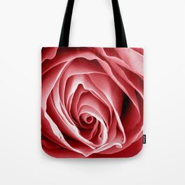 Pink Rose Macro Tote Bag