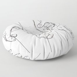 Invisible Hand Theory Floor Pillow
