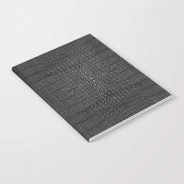 Alligator Black Leather Notebook