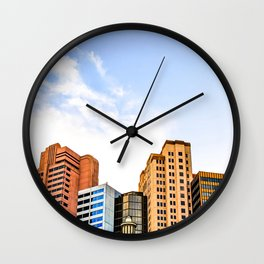 buildings of the New York New York hotel at Las Vegas, USA Wall Clock