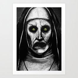 Valak The Demon Nun Art Print