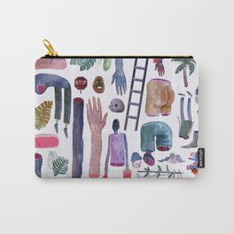 Stuff Pattern Watercolor Carry-All Pouch