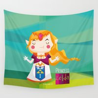 zelda Wall Tapestries featuring Zelda by suupergirl