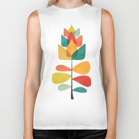 spring Biker Tanks featuring Spring Time Memory by Picomodi