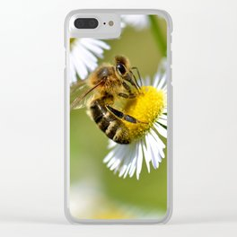 Bee on flower 83 Clear iPhone Case