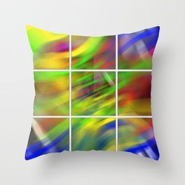 colourful abstraction Throw Pillow
