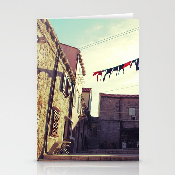 Croatian clothesline Stationery Cards