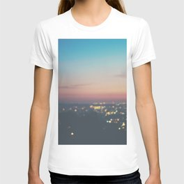 Looking down on the lights of Los Angeles as night. T-shirt
