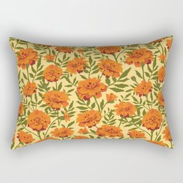 Marigold Flowers Pattern Rectangular Pillow
