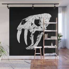 Sabertooth Tiger Skull Wall Mural