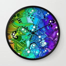 Nugget's Rainbow Wall Clock