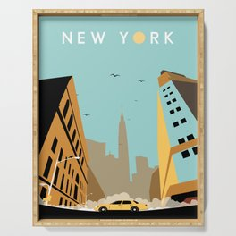 New York Early Morning Serving Tray