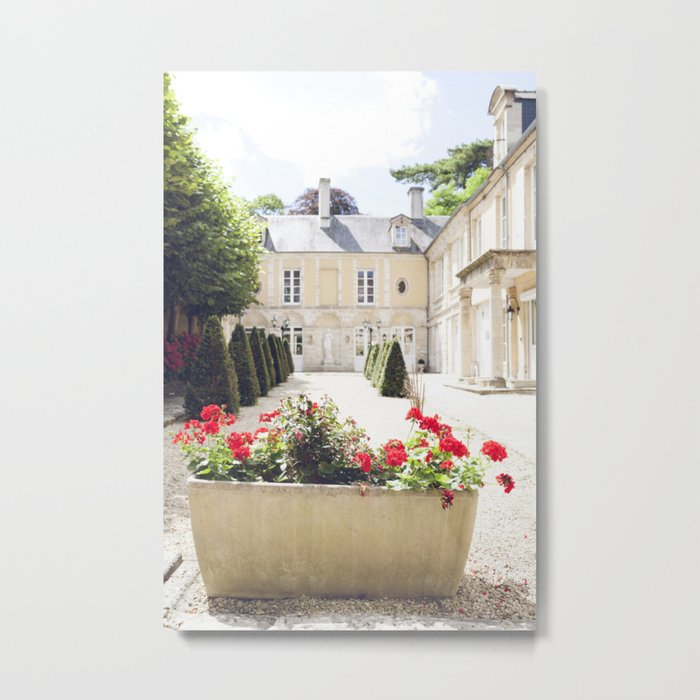 Fresh Flowers & French Class Metal Print