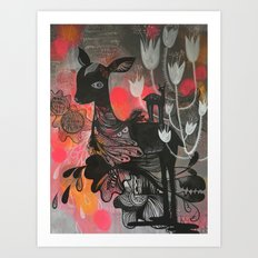 Killer Tulips Art Print