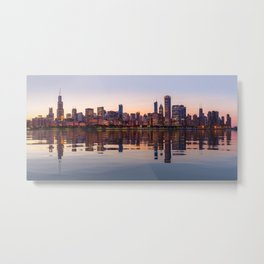 Panorama of the City skyline of Chicago Metal Print