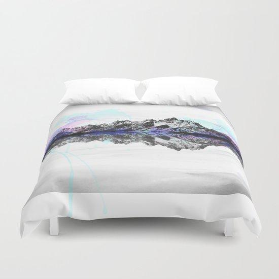 Watercolor Mountain Range Duvet Cover