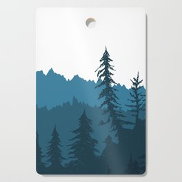 Tree Gradient Blue Cutting Board