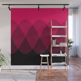 Bright red to Black Ombre Signal Wall Mural